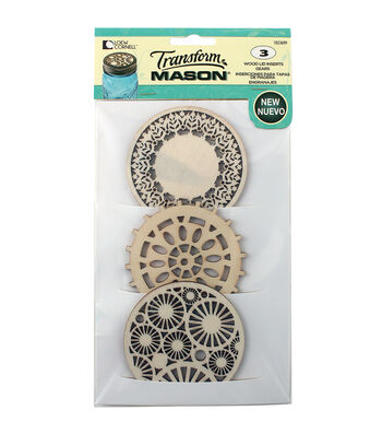 Transform Mason Lid Inserts-Patterned Assortment #1