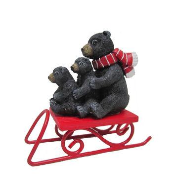 Maker's Holiday Christmas Littles Bears on Sled