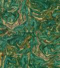 HGTV Home Upholstery Fabric 54\u0022-Marbleized Teal