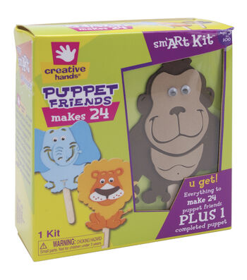 Fibre Craft Foam Kit-Puppet Friends