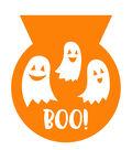 Maker\u0027s Halloween Cello Trick or Treat Bag-White Ghost & Boo on Orange