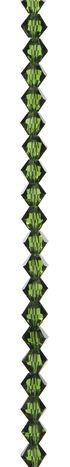 7\u0022 Bead Strands - Emerald Green Crystal Bicones, 8mm