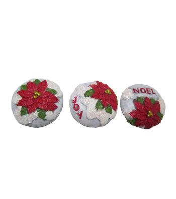 Maker's Holiday Christmas Littles Poinsettia Stepping Stone-Joy & Noel