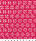 Quilters Showcase Cotton Fabric-Medallion Pink