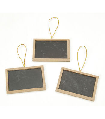 "Chalkboard W/Unfinished Frame 2""X3"" 3/Pkg-"