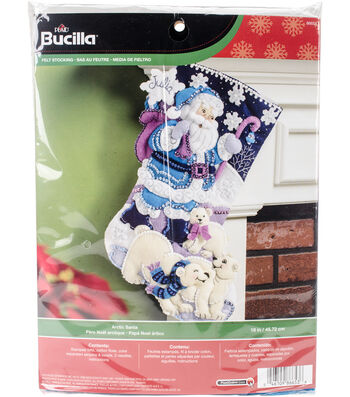 Bucilia Stocking Felt Applique Kit-Arctic Santa