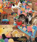 Novelty Cotton Fabric 43\u0022-Playful Cats