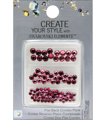 Create Your Style Swarovski Flat Back Crystals 90/Pkg-Rose/Ruby