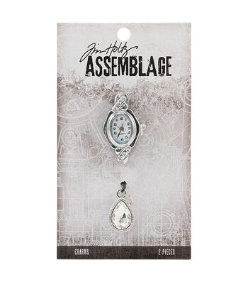 Tim Holtz® Assemblage 2 Pack Watch Face & Droplet Charms