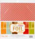 Double-Sided Dots & Stripes 12\u0022X12\u0022-Autumn Collection Pack