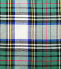 Perfectly Plaid Fabric-Rayon Oatmeal Hunter