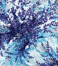 Luxe Flannel Fabric 42\u0022-Purple Floral on Light Blue