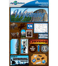 Jet Setters Dimensional Stickers-Wyoming