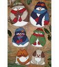 Snow Folk Ornament Kit-Set Of Six