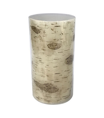 Fall Into Color 3''x6'' LED Pillar Candle-Birch