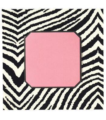 Anna Griffin Zebra Square with Pink Insert Custom Invitation