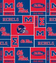 "University of Mississippi Ole Miss Rebels Fleece Fabric 58""-Allover Block, , hi-res"