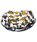 Fall Into Color Metal Maple Leaf Basket