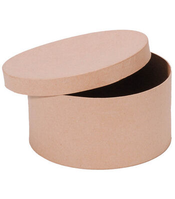 "Darice 8"" Paper Mache Hat Box"