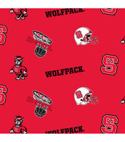 "North Carolina State Wolfpack Fleece Fabric 58""-All Over, , hi-res"