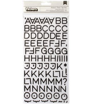 Thickers Chipboard Stickers-Hardcover Alpha, , hi-res
