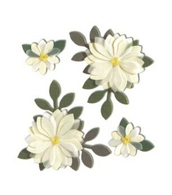 Jolee's Boutique Themed Stickers-Vanilla Flowers