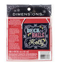 Dimensions Deck The Halls Ornament Counted Cross Stitch Kit