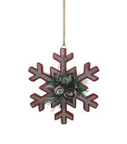 Maker's Holiday Christmas Handmade Holiday Metal Snowflake Ornament-Red, , hi-res