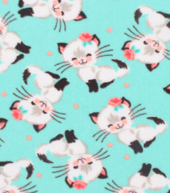 "Anti-Pill Fleece Fabric 61""-Pretty Kitty"