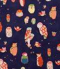 Alexander Henry Cotton Fabric 44\u0022-Spotted Owl Navy