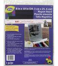 LoRan 8\u0022 x 10\u0022 Soft Ivory Magnet Board&Ruler