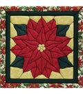 Poinsettia Quilt Magic Kit-12\u0022X12\u0022