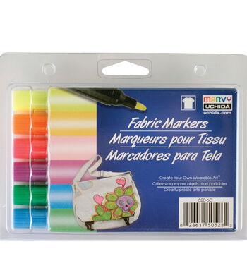 Marvy Uchida® Bold Tip Fluorescent Fabric Marker Set