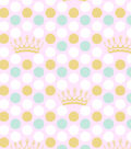 Nursery Royal Cotton Fabric 43\u0027\u0027-Pink & Mint Dot Print