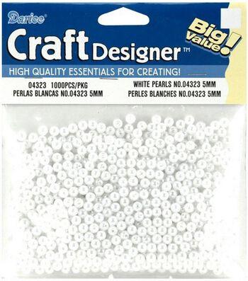 Darice 5mm Loose Pearls-1000PK/White