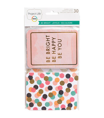Project Life Specialty Themed Cards 30/Pkg-Be Bright