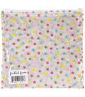 Freckled Fawn 8\u0027\u0027x8\u0027\u0027 Printed Clear Plastic Zippered Pouch-Spring Polka