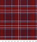 Snuggle Flannel Fabric 42\u0022-Red Gray Plaid