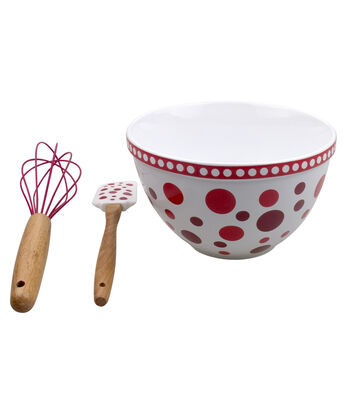 Valentine's Day Mixing Bowl Set-Dots