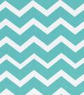 Keepsake Calico™ Cotton Fabric 43\u0027\u0027-Turquoise & White Chevron