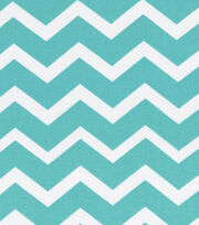 Keepsake Calico™ Cotton Fabric 43''-Turquoise & White Chevron, , hi-res