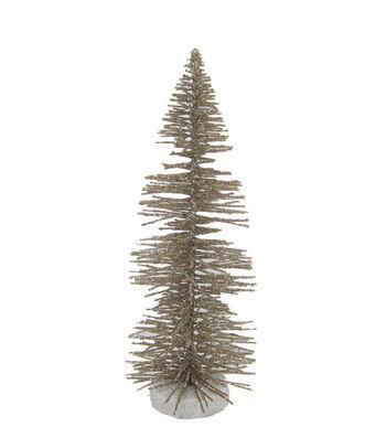Maker's Holiday Christmas Littles Medium Plastic Sisal Tree-Champagne