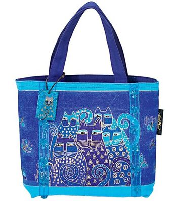 Laurel Burch Mini Bag-Indigo Cat