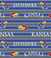 "University of Kansas Jayhawks Fleece Fabric 58""-Polo Stripe, , hi-res"