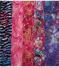 Jelly Roll Cotton Batik Fabric 20 Strips 2.5\u0027\u0027-Tie Dye