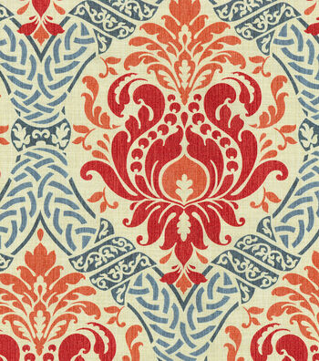 "Waverly Print Fabric 54""-Dressed Up Damask/Poppy"
