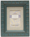 Frame Matted With Linen 5x7-Teal