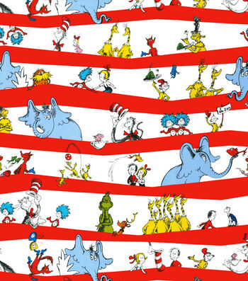 "Dr. Seuss™ Cotton Fabric 44""-Stripe"