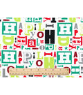 Keepsake Calico Christmas Cotton Fabric-Happy Holidays Script