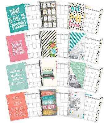 Planner Essentials Double-Sided A5 Inserts-Monthly